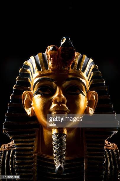 máscara pharoah - tutankamon fotografías e imágenes de stock