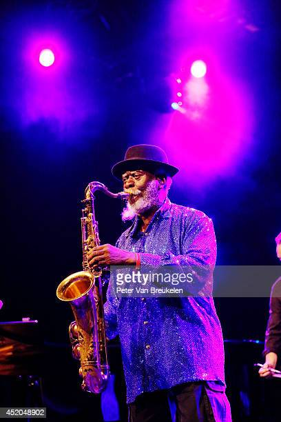 Pharoah Sanders performs on stage at Ahoy at North Sea Jazz Festival on July 11 2014 in Rotterdam Netherlands