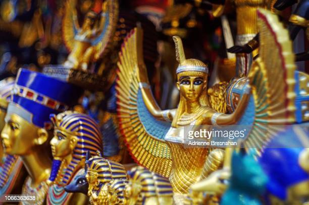 pharonic egyptian souvenir figurines - egyptian god stock pictures, royalty-free photos & images