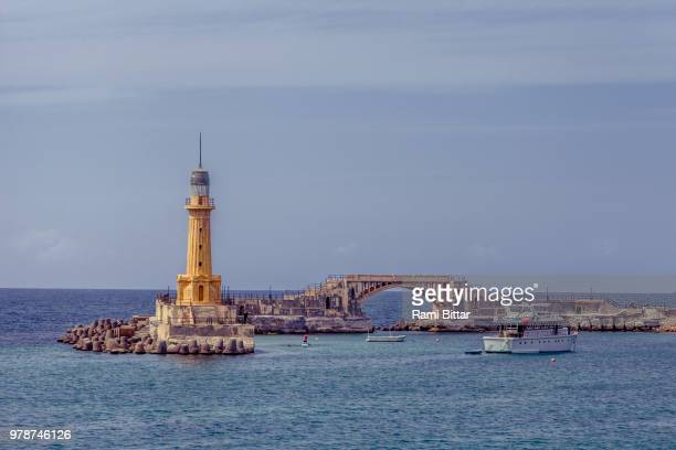 Pharos of Alexandria against clear sky, Alexandria, Egypt