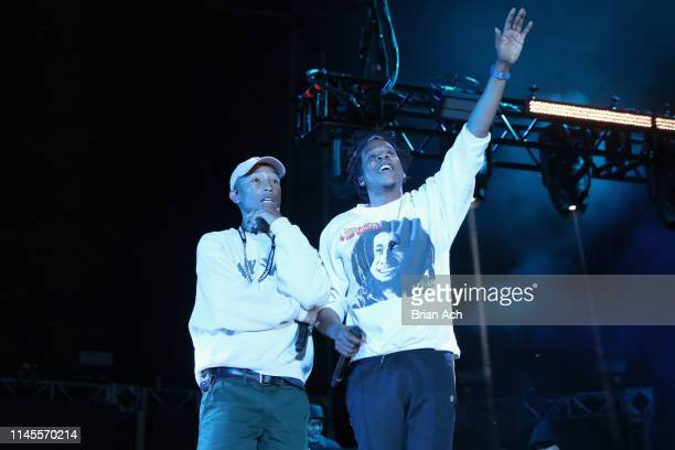 Pharrell and JayZ perform onstage at SOMETHING IN THE WATER Day 2 on April 27 2019 in Virginia Beach City