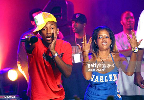 Pharrell and Kelis during MTV2's 2$Bill Concert Series Presents Fabolous Clipse with special guest NERD's Pharrell at WWE World in New York City New...