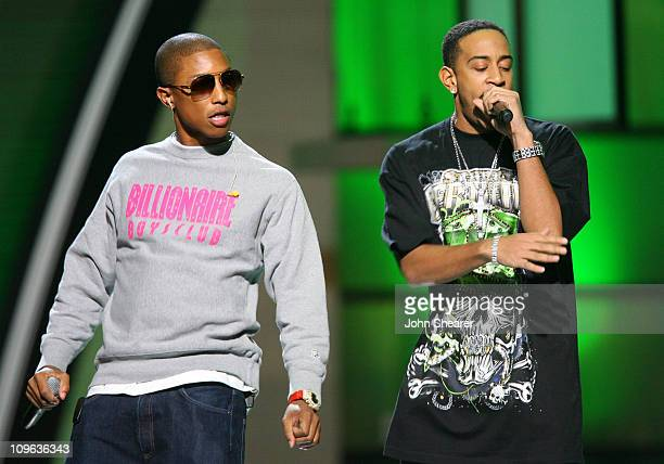 Pharrell and Ludacris perform 'Money Maker' during 2006 Billboard Music Awards Show at MGM Grand in Las Vegas Nevada United States