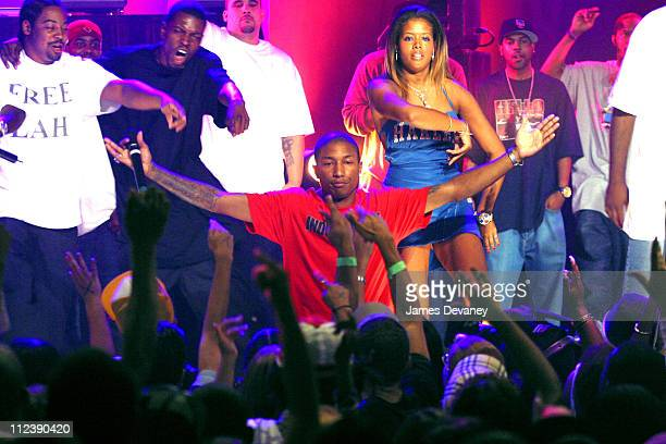 Pharrell Kelis and Clipse during MTV2's 2$Bill Concert Series Presents Fabolous Clipse with special guest NERD's Pharrell at WWE World in New York...
