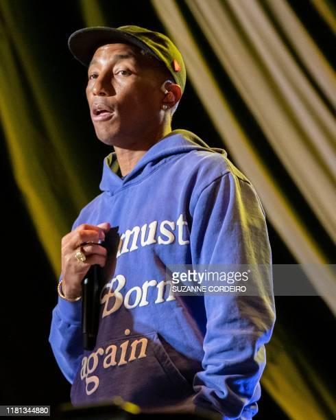 Pharrell performs during the Astroworld Festival at NRG Stadium on November 9 2019 in Houston Texas