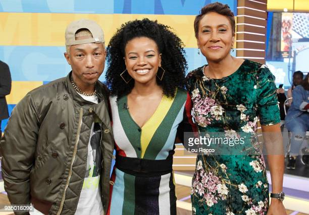 AMERICA Pharrell Williams and Chante Adams are guests on 'Good Morning America' Tuesday March 20 airing on the ABC Television Network PHARRELL