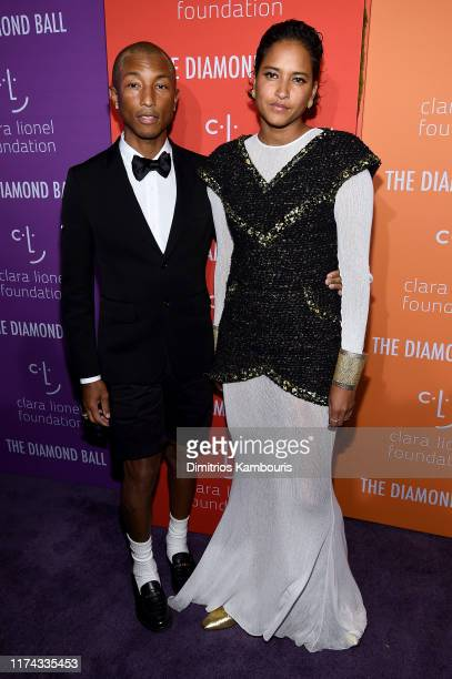 Pharrell Williams and Helen Lasichanh attend Rihanna's 5th Annual Diamond Ball Benefitting The Clara Lionel Foundation at Cipriani Wall Street on...