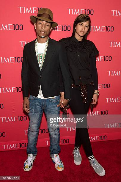 Pharrell Williams and Helen Lasichanh attend the 2014 Time 100 Gala at Frederick P Rose Hall Jazz at Lincoln Center on April 29 2014 in New York City