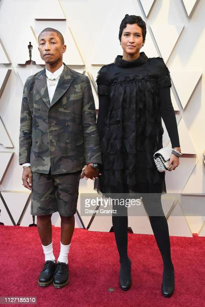 Pharrell Williams and Helen Lasichanh attend the 91st Annual Academy Awards at Hollywood and Highland on February 24 2019 in Hollywood California