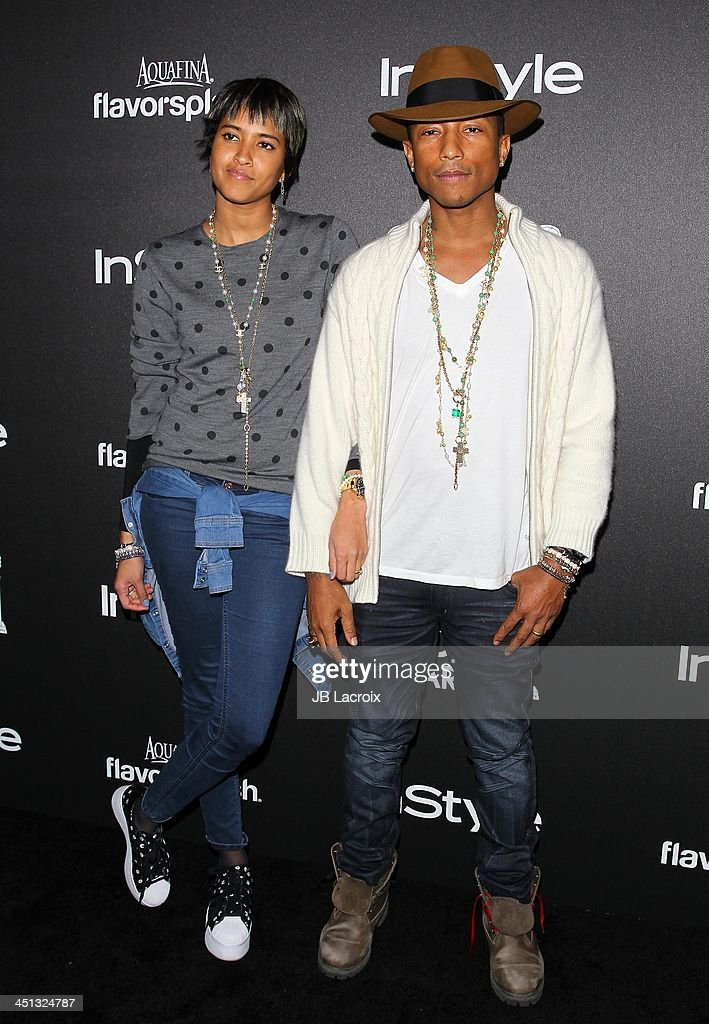 Pharrell Williams and Helen Lasichanh attend The Hollywood Foreign Press Association (HFPA) And InStyle 2014 Miss Golden Globe Announcement/Celebration at Fig & Olive Melrose Place on November 21, 2013 in West Hollywood, California.