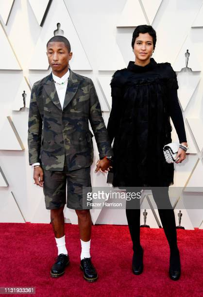 Pharrell Williams and Helen Lasichanh attends the 91st Annual Academy Awards at Hollywood and Highland on February 24 2019 in Hollywood California