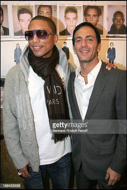 630f43f04422 Pharrell Williams and Marc Jacobs at Louis Vuitton Men Fashion Show Autumn  Winter 2008 2009