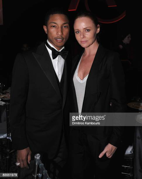 Pharrell Williams and Stella McCartney attend the 12th Annual ACE Awards at Cipriani 42nd Street on November 3, 2008 in New York City.
