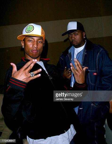 Pharrell Williams and Timbaland during Tuesday Night at Club Suede at Club Suede in New York City New York United States