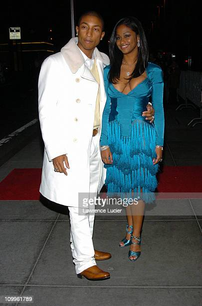 Pharrell Williams and Vashtie during Usher's 26th Birthday Party at Rainbow Room in New York City New York United States
