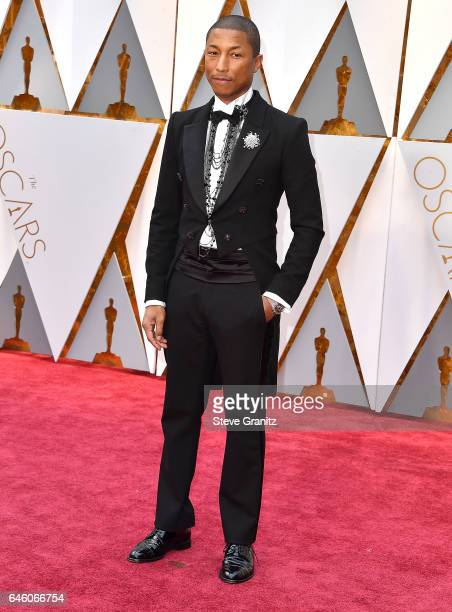 Pharrell Williams arrives at the 89th Annual Academy Awards at Hollywood Highland Center on February 26 2017 in Hollywood California