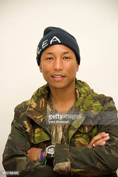 Pharrell Williams at the 'Hidden Figures' Press Conference at the Four Seasons Hotel on November 1 2016 in Beverly Hills California
