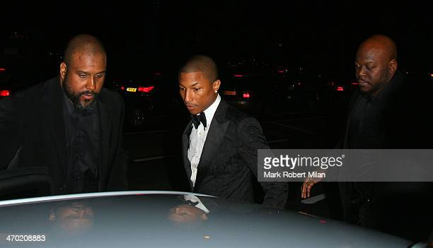 Pharrell Williams attending the Elle Style Awards ceremony at One Embankment on February 18 2014 in London England