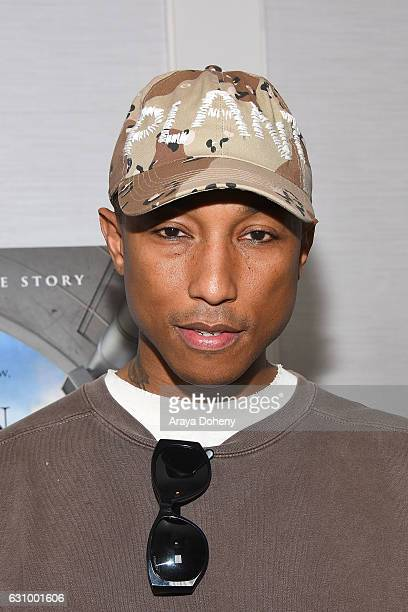 """Pharrell Williams attends a screening and Q&A for 20th Century Fox's """"Hidden Figures"""" at The London West Hollywood on January 4, 2017 in West..."""