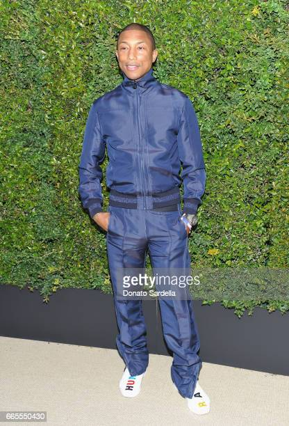 Pharrell Williams attends Caroline De Maigret and Pharrell Williams dinner in celebration of CHANEL's Gabrielle Bag at Giorgio Baldi on April 6 2017...