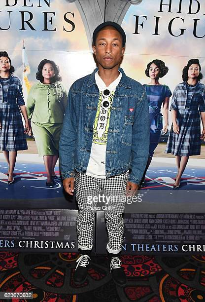 Pharrell Williams attends Hidden Figures advanced screening hosted by Janelle Monae Pharrell Williams at Regal Cinemas Atlantic Station Stadium 16 on...