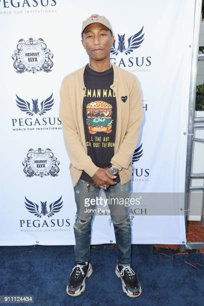 Pharrell Williams attends The $16 Million Pegasus World Cup Invitational The World's Richest Thoroughbred Horse Race at Gulfstream Park on January 27...