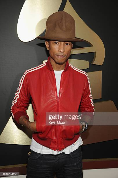 Pharrell Williams attends the 56th GRAMMY Awards at Staples Center on January 26 2014 in Los Angeles California