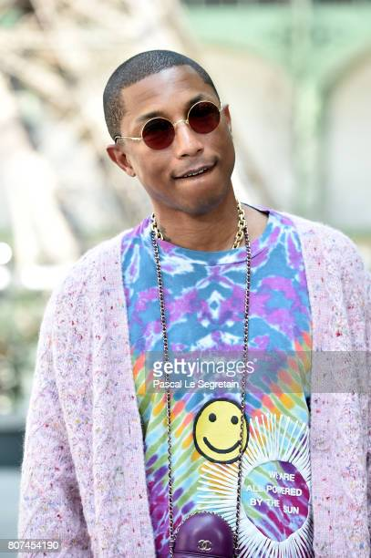 Pharrell Williams attends the Chanel Haute Couture Fall/Winter 20172018 show as part of Haute Couture Paris Fashion Week on July 4 2017 in Paris...