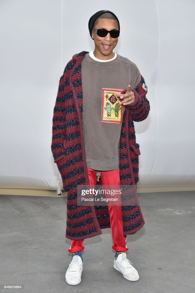Pharrell Williams attends the Chanel show as part of the Paris Fashion Week Womenswear Fall/Winter 2017/2018 on March 7, 2017 in Paris, France.
