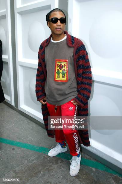 Pharrell Williams attends the Chanel show as part of the Paris Fashion Week Womenswear Fall/Winter 2017/2018 on March 7 2017 in Paris France