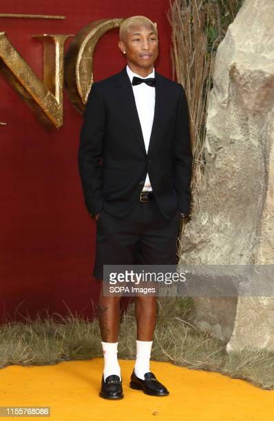 Pharrell Williams attends the European Premiere of Disney's The Lion King at the Odeon Luxe cinema Leicester Square in London