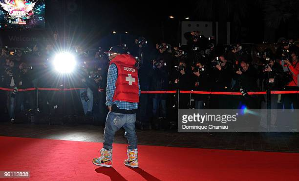 Pharrell Williams attends the NRJ Music Awards 2010 at Palais des Festivals on January 23 2010 in Cannes France