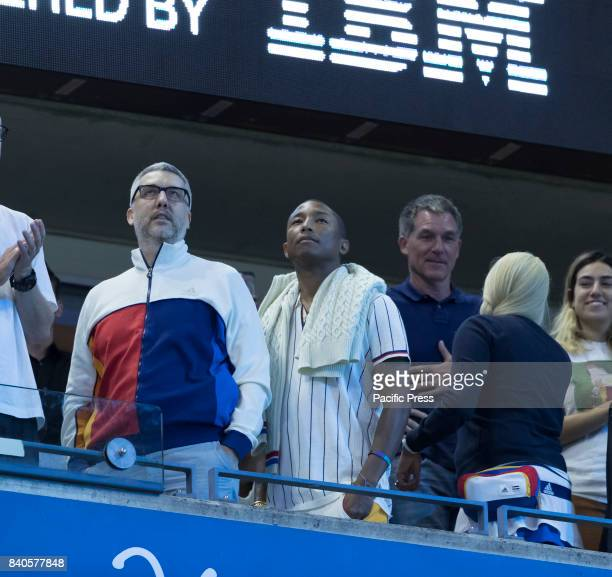 Pharrell Williams attends US Open Championships day 1 at Billie Jean King Tennis center