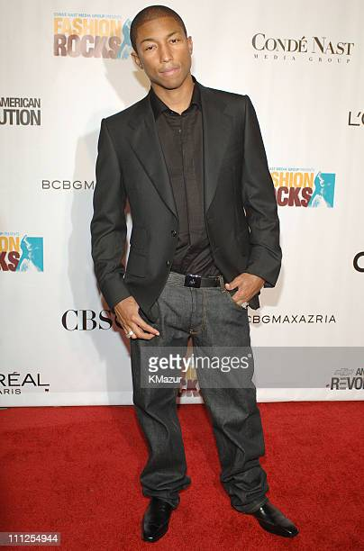 Pharrell Williams during 2005 Fashion Rocks Red Carpet at Radio City Music Hall in New York City New York United States