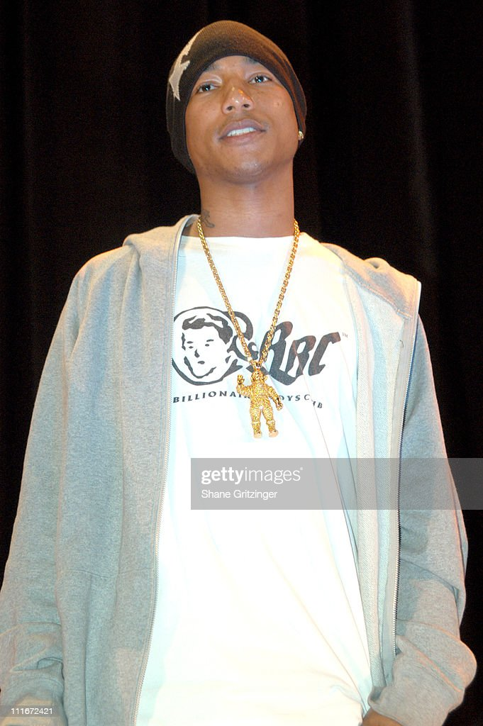 Pharrell Williams during Teen People Kick Off the First Annual Music Appreciation Day with Host Pharrell Williams at Talent Unlimited High School in New York City, New York, United States.