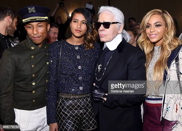 Pharrell Williams Helen Lasichanh Chanel Artistic Director Karl Lagerfeld and Beyonce attend the CHANEL ParisSalzburg 2014/15 Metiers d'Art...