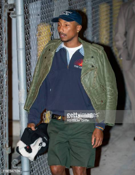 Pharrell Williams is seen at 'Jimmy Kimmel Live' on January 06 2020 in Los Angeles California