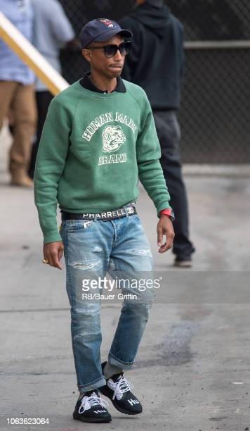 Pharrell Williams is seen at 'Jimmy Kimmel Live' on November 19, 2018 in Los Angeles, California.