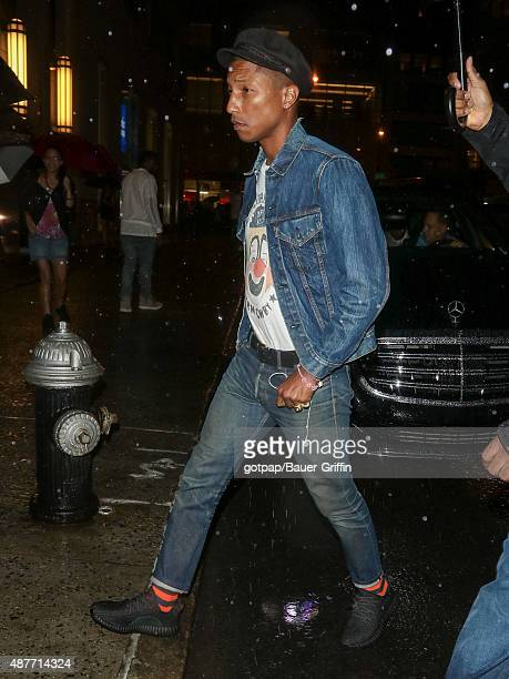 Pharrell Williams is seen attending the Rihanna Party at The New York Edition on September 10 2015 in New York City