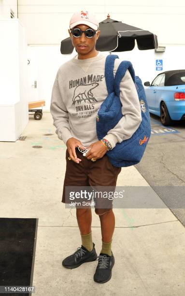 Pharrell Williams is seen on April 04 2019 in Beverly Hills California