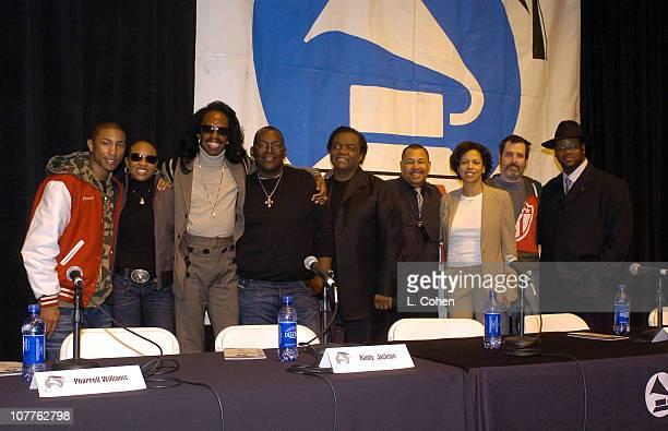 Pharrell Williams MC Lyte Verdine White Randy Jackson Lamont Dozier Ralph Johnson Angela Bibs Sanders Dave Way and Jimmy Jam