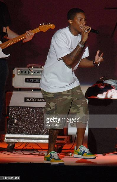 Pharrell Williams of NERD during Coach Play For Peace Concert and Red Carpet in Tokyo Japan