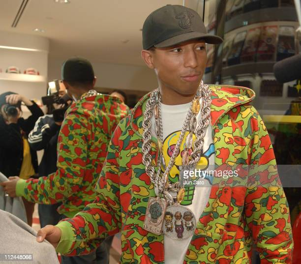 Pharrell Williams of N*E*R*D during 'The Ice Cream Store' Reception and Opening Party at ICE CREAM STORE in Tokyo Japan