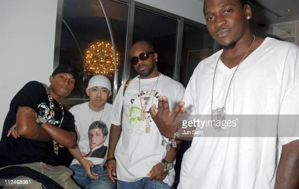 Pharrell Williams of N*E*R*D NIGO Jermaine Dupri and Pusha T of CLIPSE