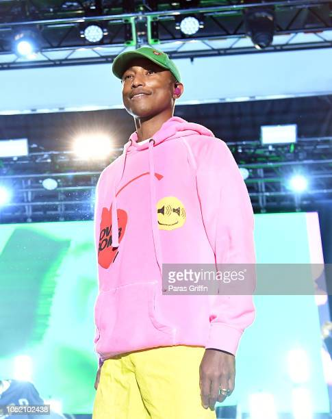 Pharrell Williams of NERD performs in concert during 2018 AfroPunk Festival Atlanta Carnival of Consciousness at 787 Windsor on October 13 2018 in...