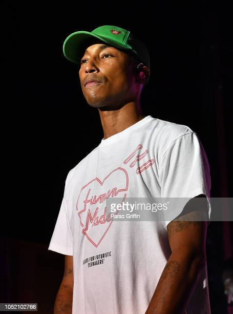 Pharrell Williams of N.E.R.D performs in concert during 2018 AfroPunk Festival Atlanta: Carnival of Consciousness at 787 Windsor on October 13, 2018...