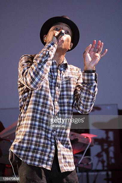 Pharrell Williams of NERD performs live at the Susquehanna Bank Center October 10 2010 in Camden New Jersey