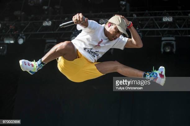 Pharrell Williams of NERD performs onstage at the Northside Festival on June 8 2018 in Aarhus Denmark