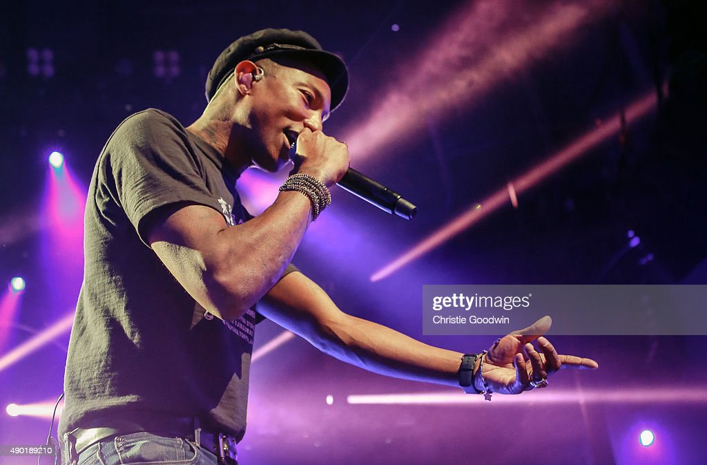 Pharrell Williams performs on stage as part of Apple Music Festival at The Roundhouse on September 26, 2015 in London, England.