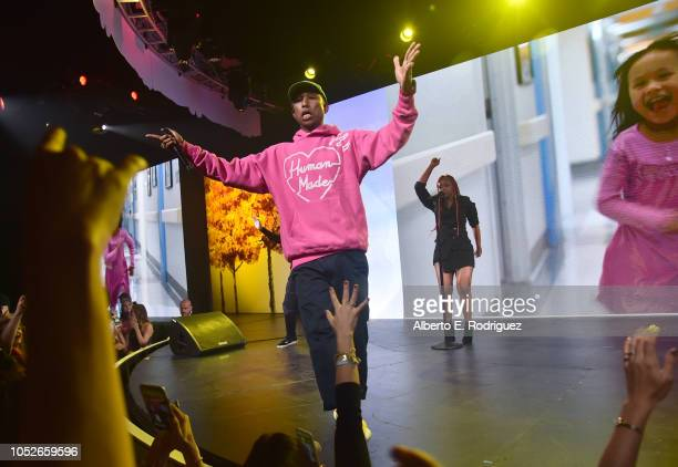 Pharrell Williams performs onstage at the 2018 Children's Hospital Los Angeles 'From Paris With Love' Gala at LA Live on October 20 2018 in Los...
